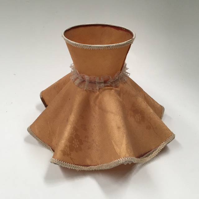LAM1258 LAMPSHADE, Vintage Ruffle -  Peach (Small) $12.50