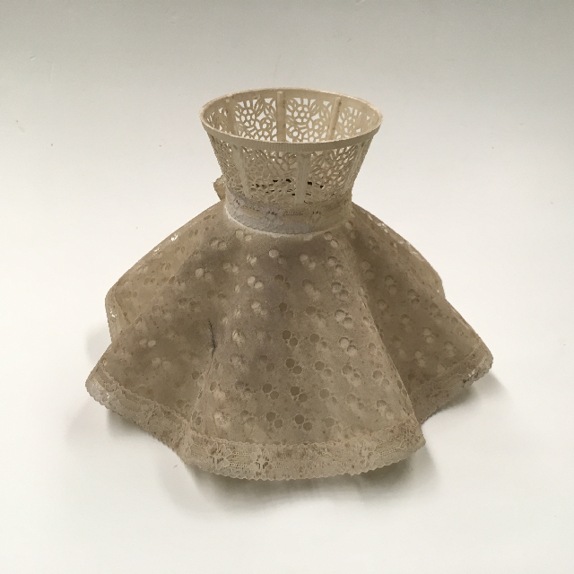 LAM1260 LAMPSHADE, Vintage Ruffle - Lace (Small) $12.50