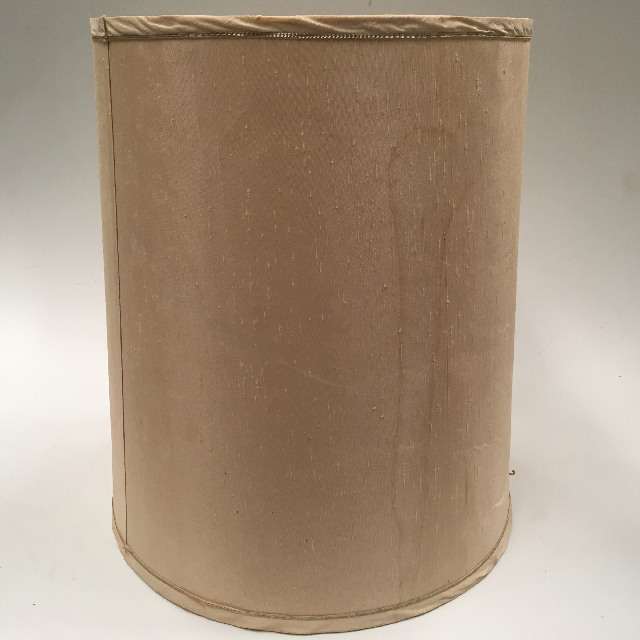 LAM0916 LAMPSHADE, 1960s 70s (Large) Beige w Stain $15