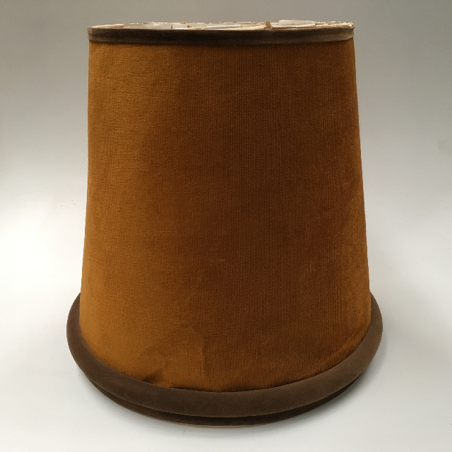 LAM0918 LAMPSHADE, 1960s 70s (Large) Gold Brown Velvet $18.75