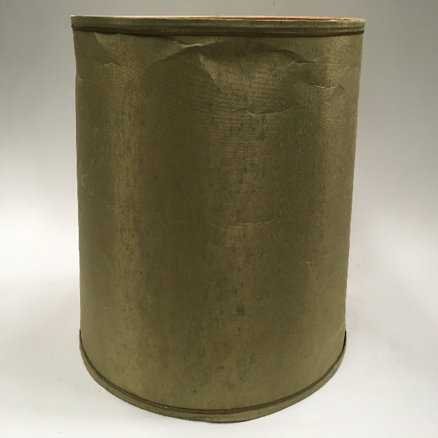 LAM0922 LAMPSHADE, 1960s 70s (Large) Olive Green $18.75
