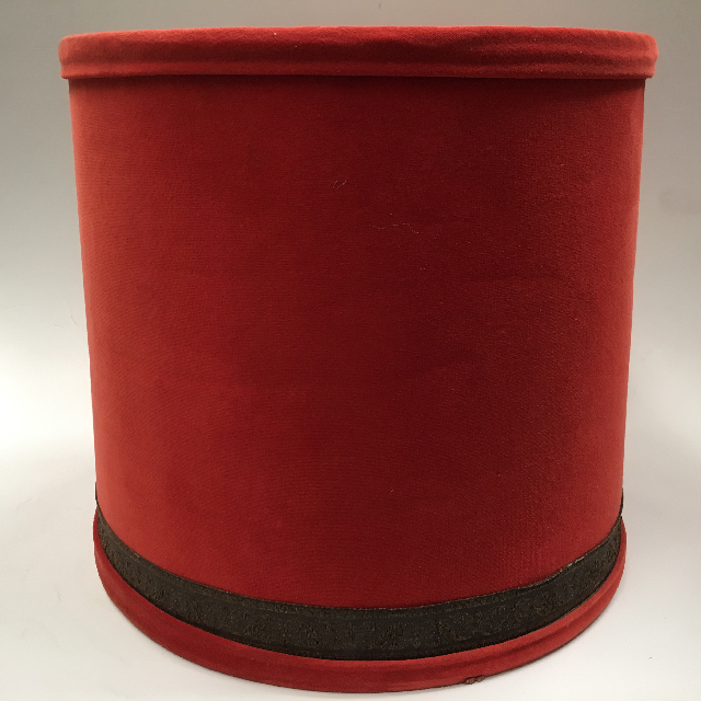 LAM0924 LAMPSHADE, 1960s 70s (Large) Red Velvet $18.75