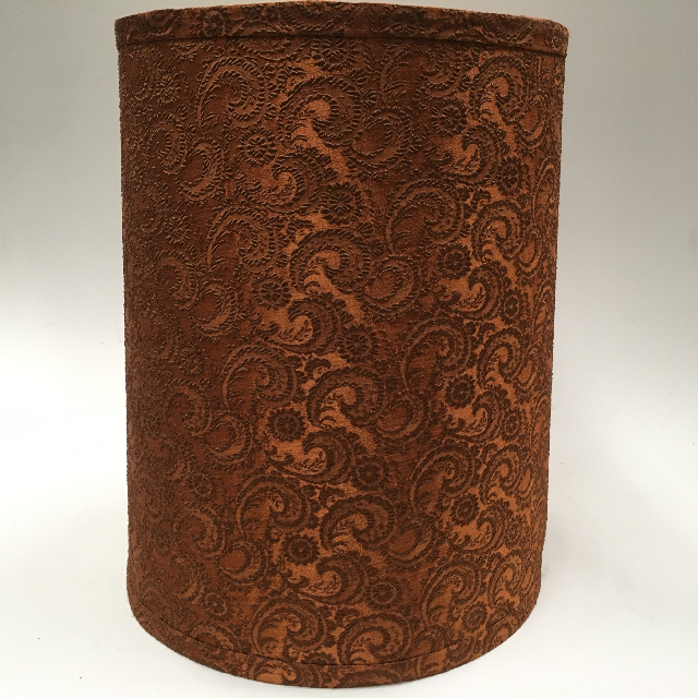 LAM0925 LAMPSHADE, 1960s 70s (Large) Rust Brown Lace $18.75