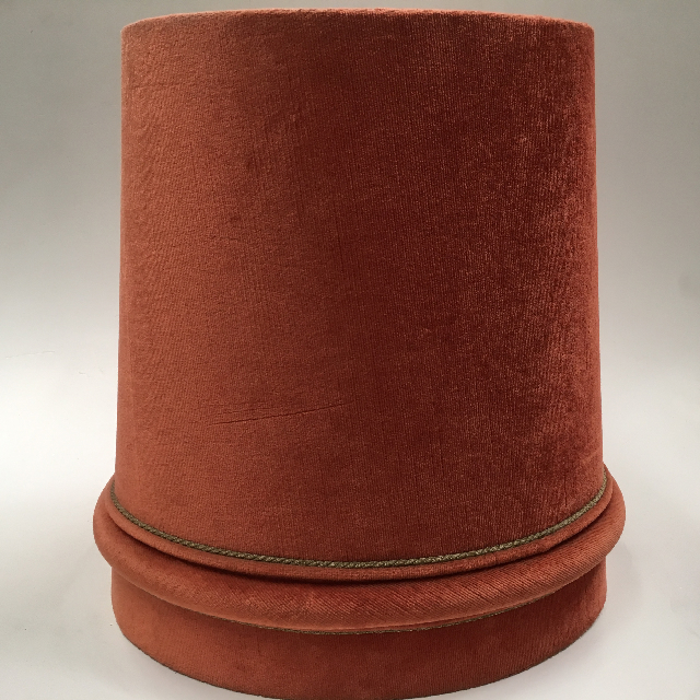 LAM0926 LAMPSHADE, 1960s 70s (Large) Rust Brown Velvet $18.75