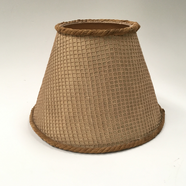 LAM0949 LAMPSHADE, 1960s 70s (Small) - Natural Open Weave $7.50