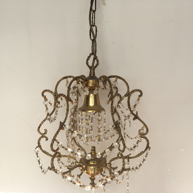 LIG0118 LIGHT, Hanging Chandelier (Style 1) - Small Ornate Gold $30
