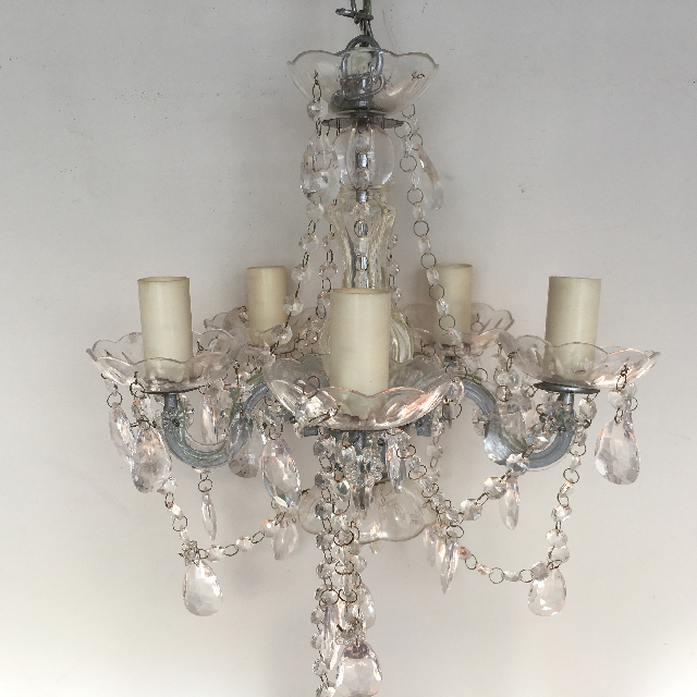 LIG0121 LIGHT, Hanging Chandelier (Style 4) - Glass 5 Arm $37.50