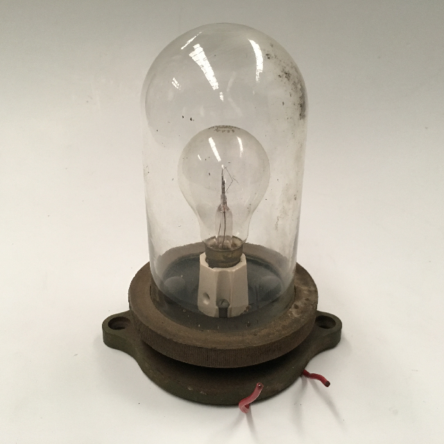 LIG0111 LIGHT, Industrial Wall Mount w Glass Dome Cover $8.75