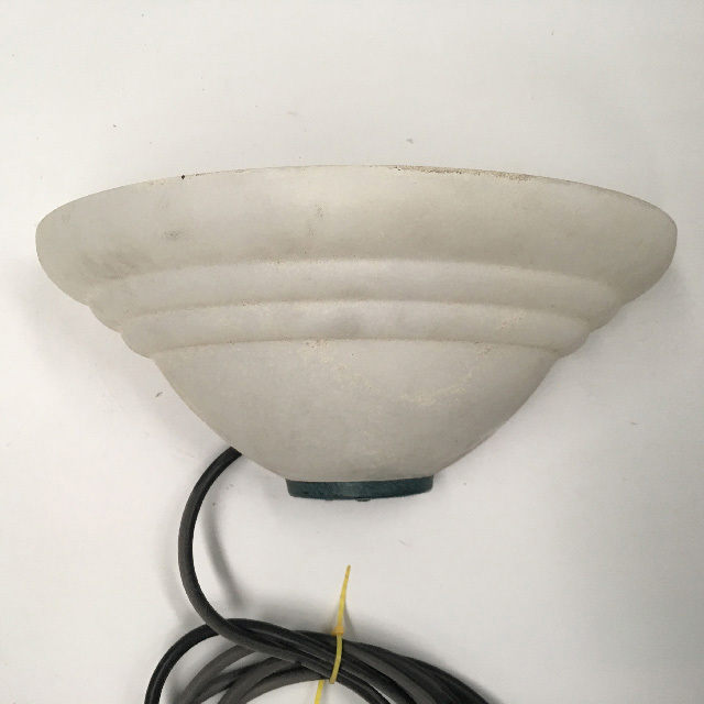 LIG0142 LIGHT, Wall Sconce - Half Moon Frosted Glass (wired) $18.75