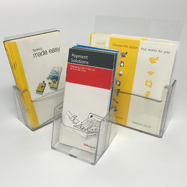 BAN0202 BANKING, Acrylic Display Holder With Banking Pamphlets $6.25