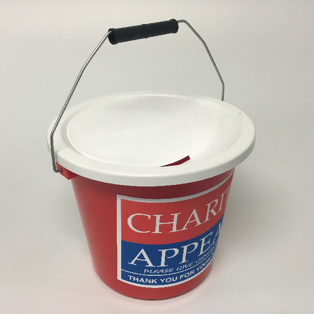COL0100 COLLECTION BOX, Charity Appeal Bucket $7.50