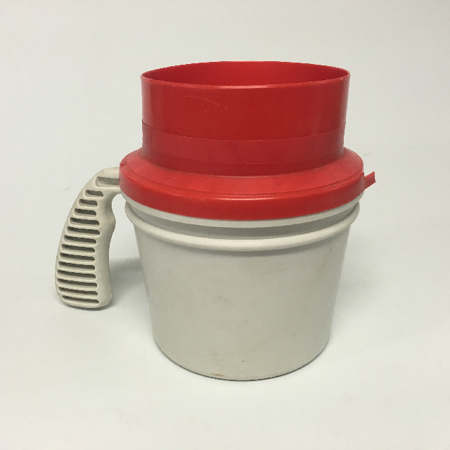 COL0101 COLLECTION BOX, Red White Plastic $7.50