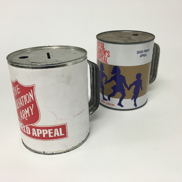 COLLECTION BOX, Salvos (COL0102) or Children's Hospital (COL0103) $7.50