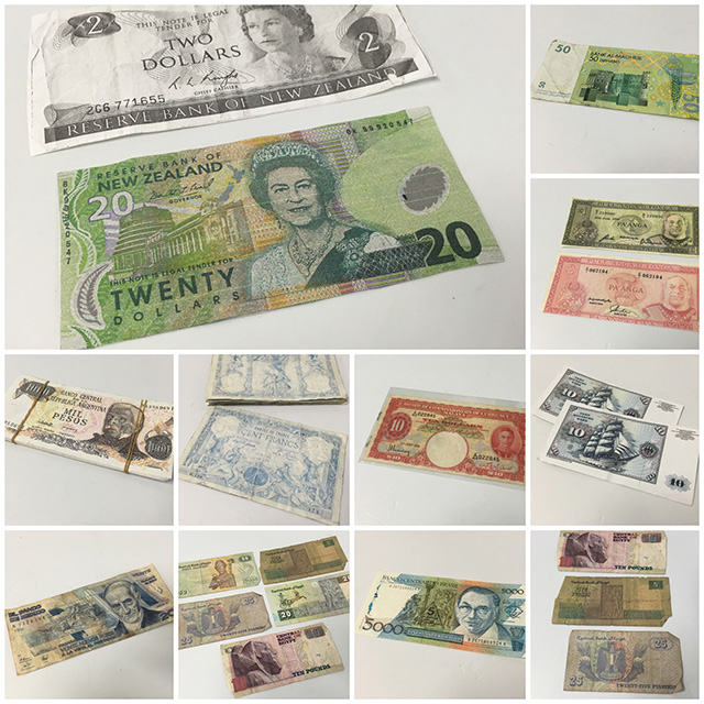 Mixture of Foreign Notes