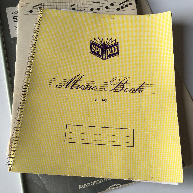 MUS0001 MUSIC BOOK, Assorted $3.75