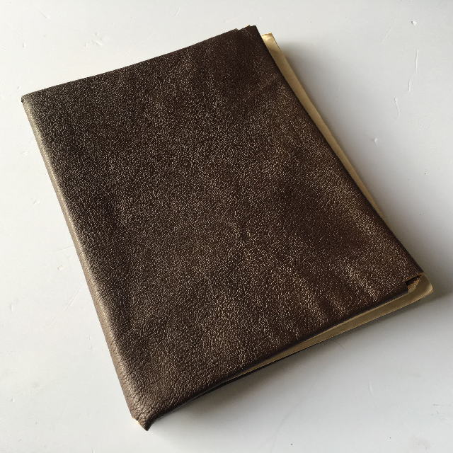 MUS0002 MUSIC BOOK, Brown Binder Cover $5