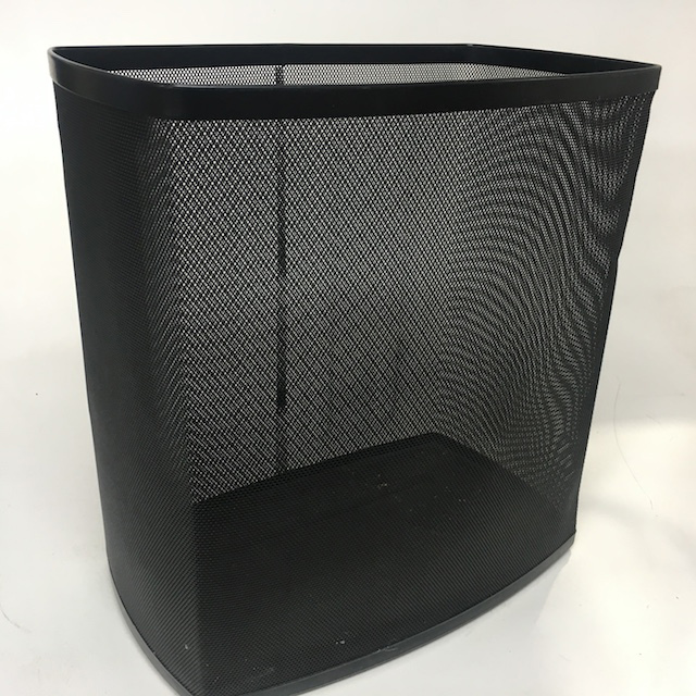 BIN0112 BIN, Black Mesh Rectangular $7.5