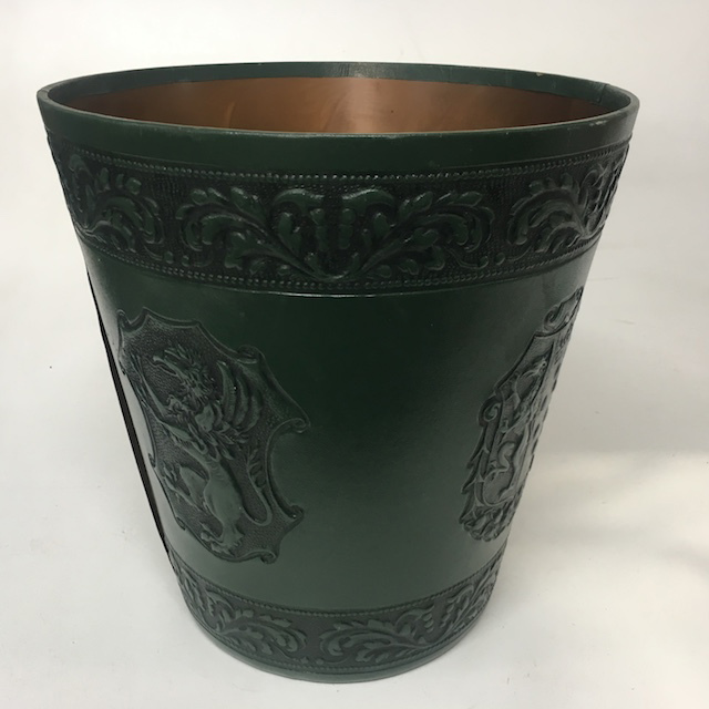 BIN0120 BIN, Dark Green Embossed Leatherette $10