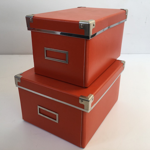 BOX0021 BOX, Storage Box - Orange $3.75