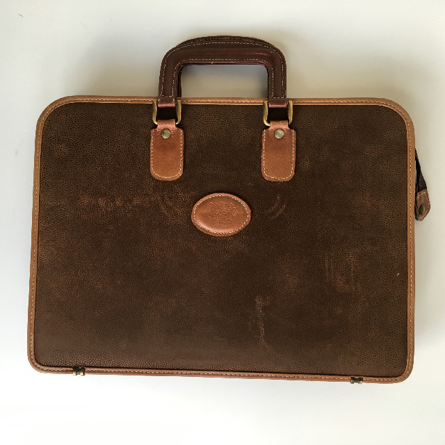 BRI0040 BRIEFCASE, Slimline - Brown Suede $15