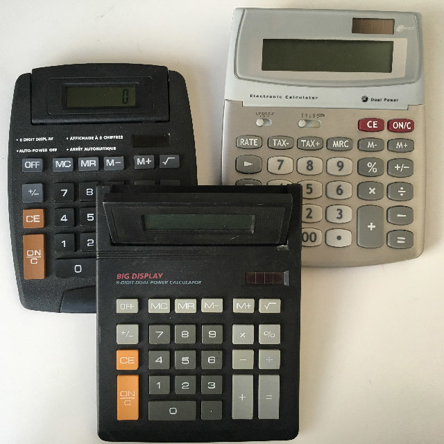 CAL0001 CALCULATOR, Contemp Large $3.75