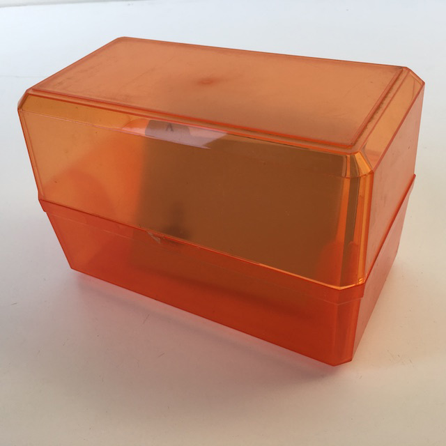 CAR0052 CARD OR DISK FILE, Orange Acrylic $5