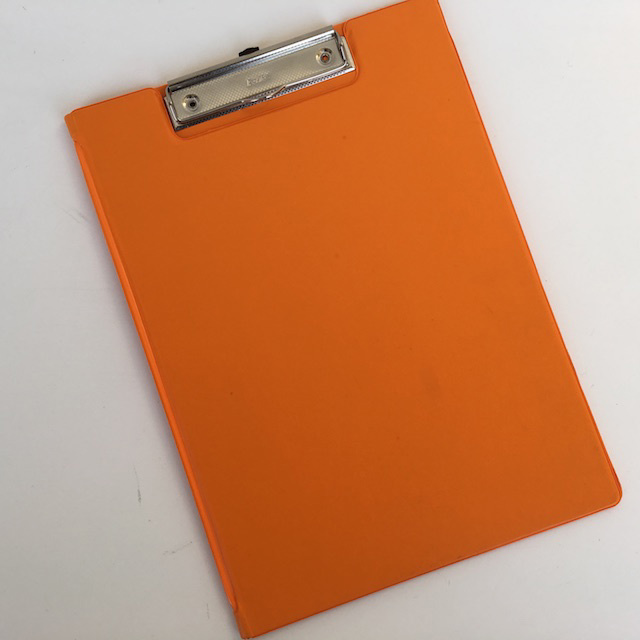CLI0008 CLIPBOARD, Orange Vinyl $2.50
