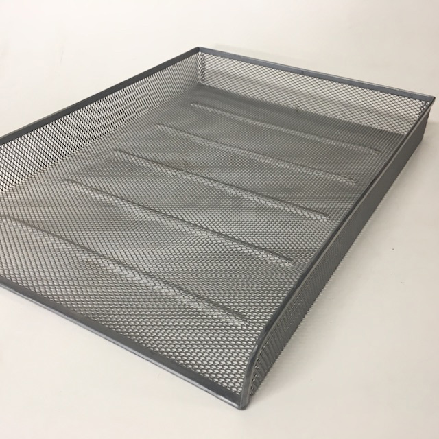 DOC0040 DOCUMENT TRAY, Silver Grey Mesh - Style 1 $3.75