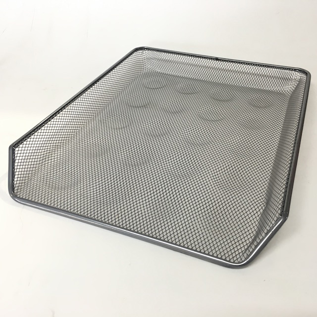 DOC0041 DOCUMENT TRAY, Silver Grey Mesh - Style 2 $3.75