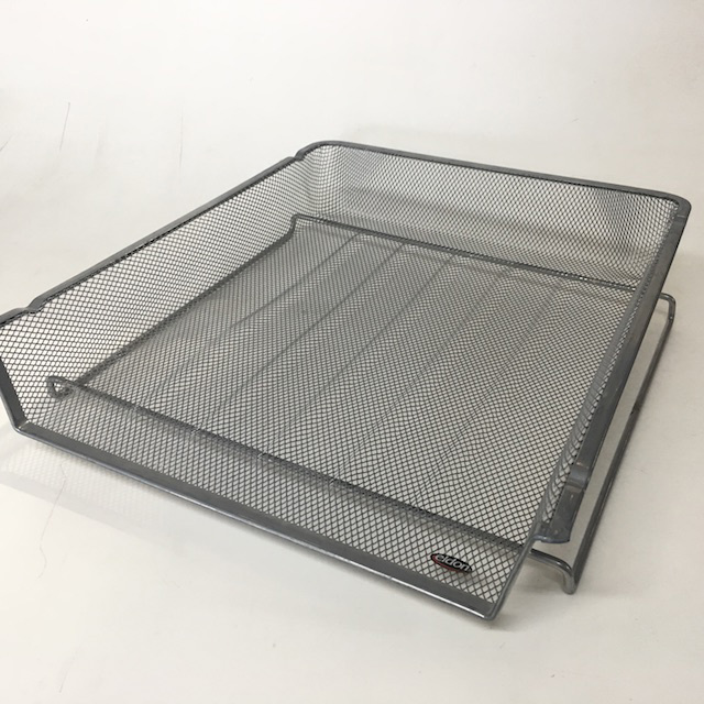 DOC0042 DOCUMENT TRAY, Silver Grey Mesh - Style 3 $3.75