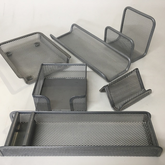 DES0060 DESK ACCESSORY, Silver Grey Mesh Assorted $2.50