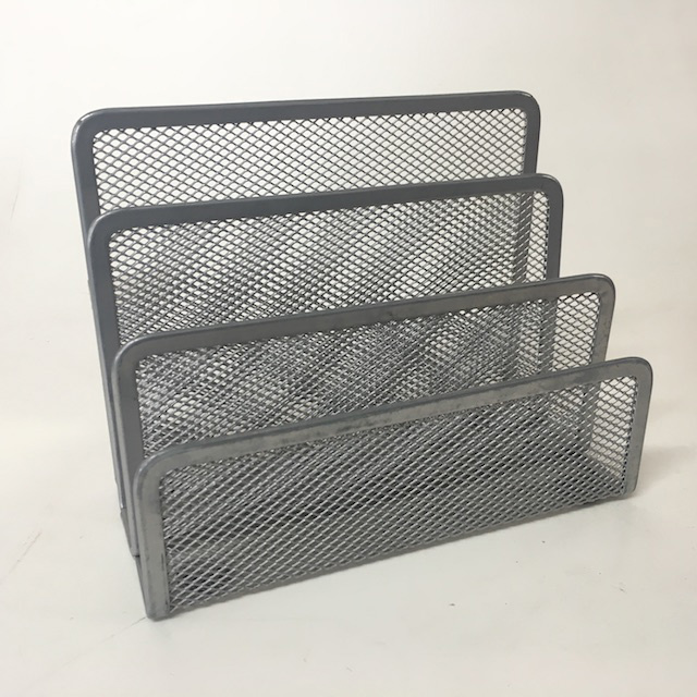 DES0061 DESK ACCESSORY, Silver Grey Mesh File Or Envelope Holder $2.50