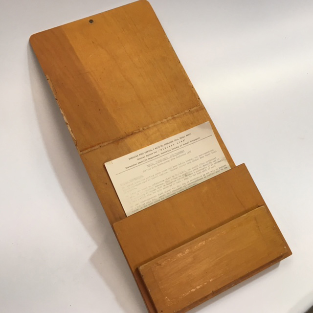DOC0025 DOCUMENT HOLDER, Timber Wall Mount $10