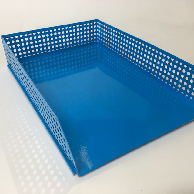 DOC0034 DOCUMENT TRAY, Blue Perforated Metal $3.75