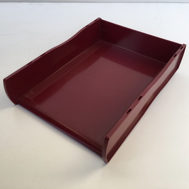 DOC0035 DOCUMENT TRAY, Burgundy $3