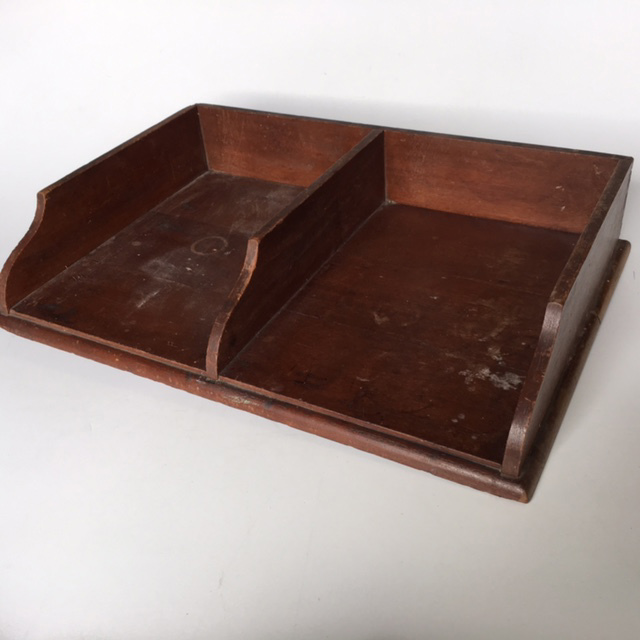 DOC0027 DOCUMENT TRAY, Timber Double $18.75