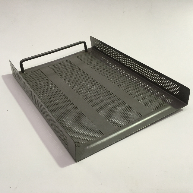 DOC0008 DOCUMENT TRAY, Grey Perforated Metal $4.50