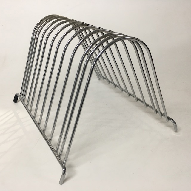 FIL0050 FILE ORGANISER, Wire Rack - Chrome Arched $5