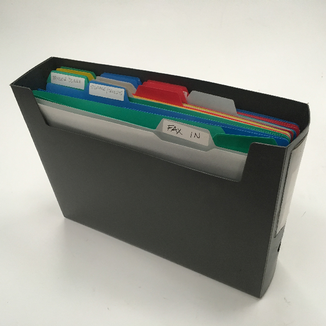 FIL0009 FILE ORGANISER, Colour Plastic $6.25