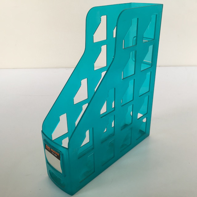 FIL0041 FILE OR MAGAZINE HOLDER, Aqua Blue Acrylic $3.75