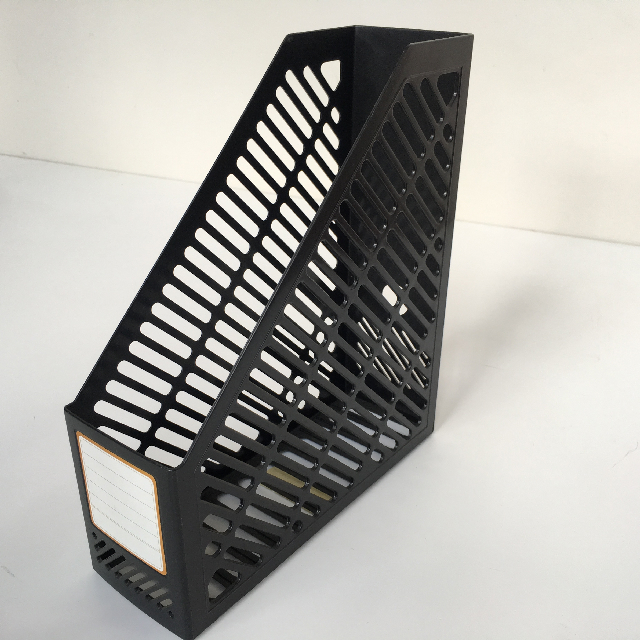 FIL0006 FILE OR MAGAZINE HOLDER, Black Plastic $3.75