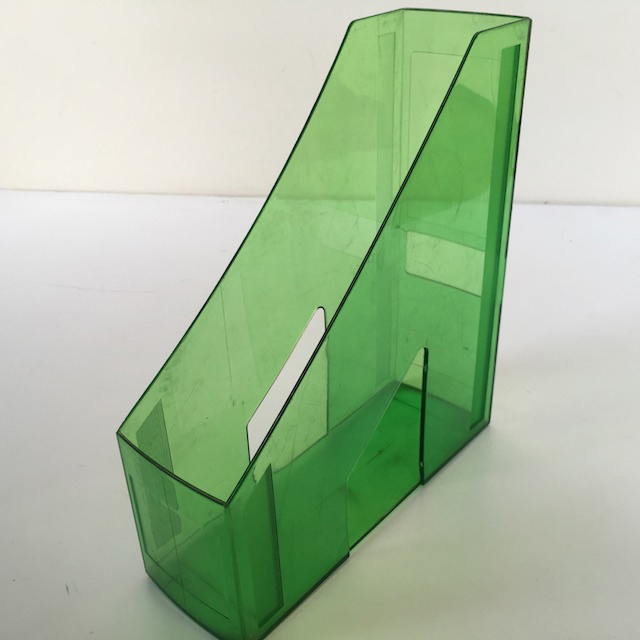 FIL0043 FILE OR MAGAZINE HOLDER, Green Acrylic $3.75