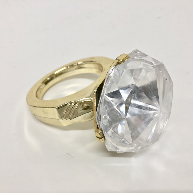 NOV0004 NOVELTY, Oversized Diamond Ring $6.25