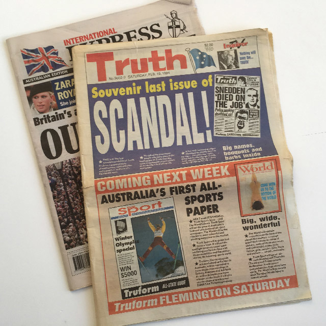 NEW0002 NEWSPAPER, Truth - Express $2.50