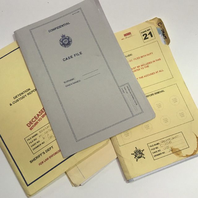 PAP0002 PAPERWORK, Police Files - Box Lot $37.50