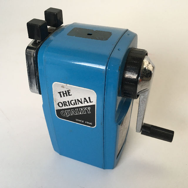 PEN0024 PENCIL SHARPENER, Classic Desk Mount Blue $7.50