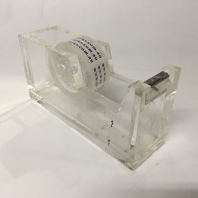 TAP0003 TAPE DISPENSER, Contemp Clear Acrylic $5
