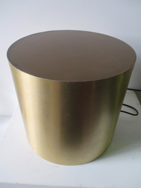 PLI0058 PLINTH, Gold Illuminating (Shown without Perspex Top) 44 cm Dia x 40cm H $37.50