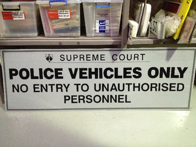 SIG0023 SIGN, Police - Vehicles Only $45