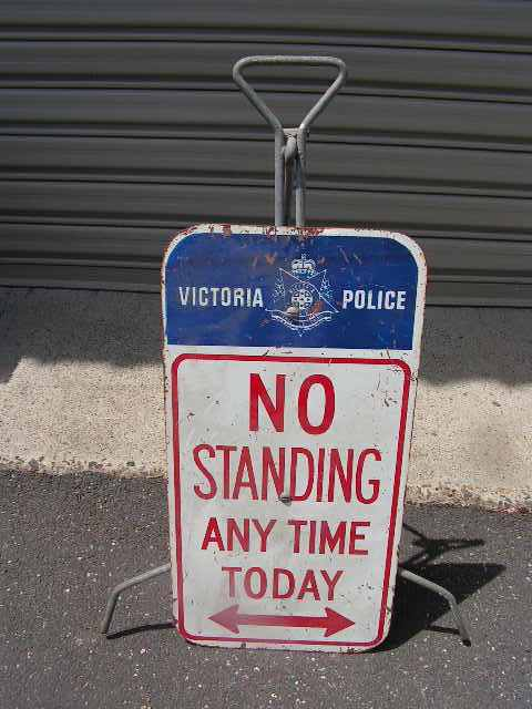 SIG0024 SIGN, Police - No Standing (on Stand) $18.75